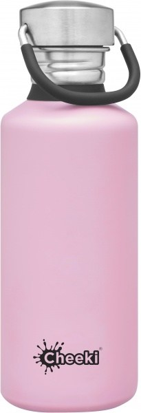 Cheeki Stainless Steel Classic Bottle Pink 500ml
