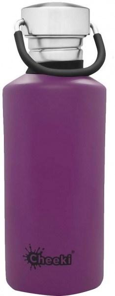 Cheeki Stainless Steel Classic Bottle Purple 500ml