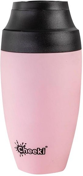 Cheeki Stainless Steel Coffee Mug Pink 350ml