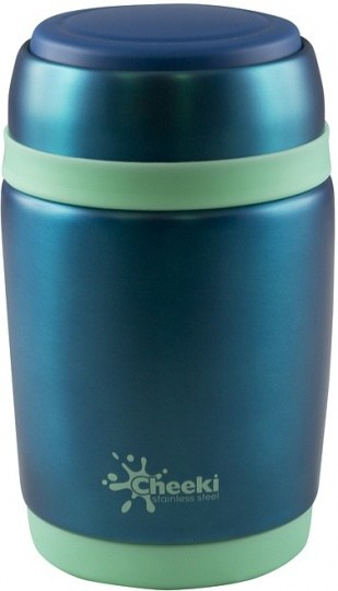 Cheeki Stainless Steel Food Jar Blue 480ml