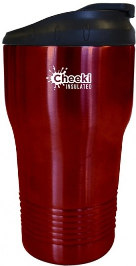 Cheeki Stainless Steel Insulated Coffee Cup Cherry Red 310ml