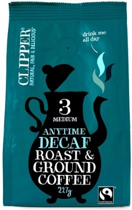 Clipper Anytime Decaf Roast & Ground Coffee 227g