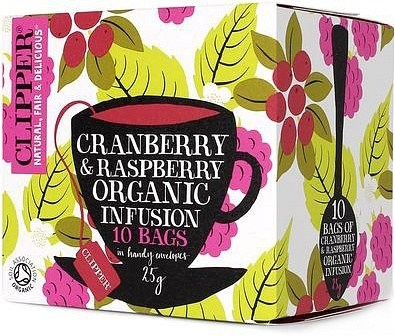 Clipper Cranberry & Raspberry Tea 10Teabags