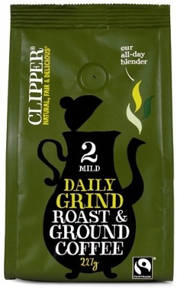 Clipper Daily Grind Roast & Ground Coffee 227g