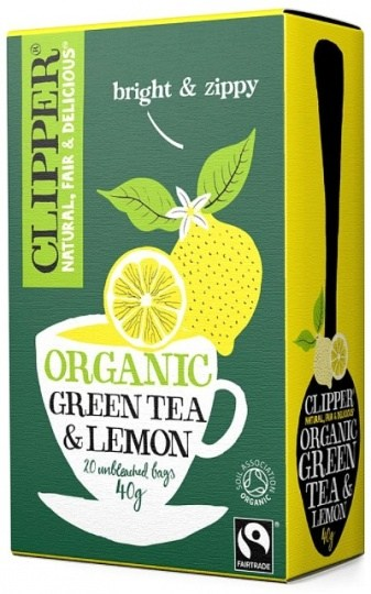Clipper Fair Trade Organic Green Tea with Lemon 20Teabags