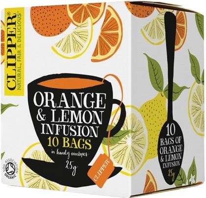 Clipper Orange & Lemon Tea 10Teabags