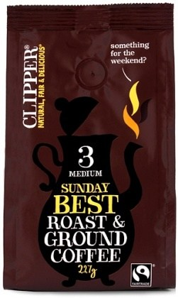 Clipper Sunday Best Roast & Ground FT Coffee 227g