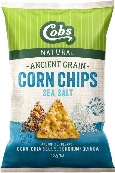 Cobs Ancient Grain Corn Chips Sea Salt  12x130g