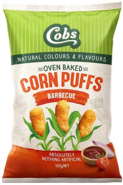 Cobs Corn Puffs Barbecue  15x120g
