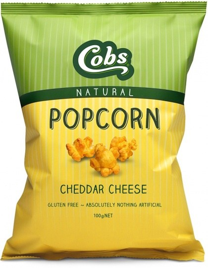Cobs Natural Cheddar Cheese Popcorn  12x100g