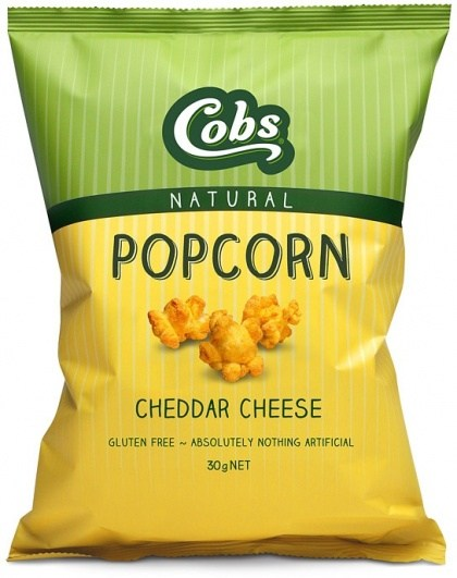 Cobs Natural Cheddar Cheese Popcorn  30x30g