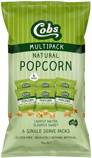 Cobs Natural Lightly Salted, Slightly Sweet Popcorn  (6Pk) 9x78g