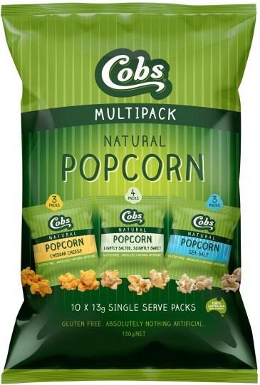 Cobs Natural Multipack Popcorn  (10Pk) 4x130g SEPT/OCT
