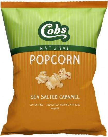 Cobs Natural Popcorn Sea Salted Caramel  12x100g