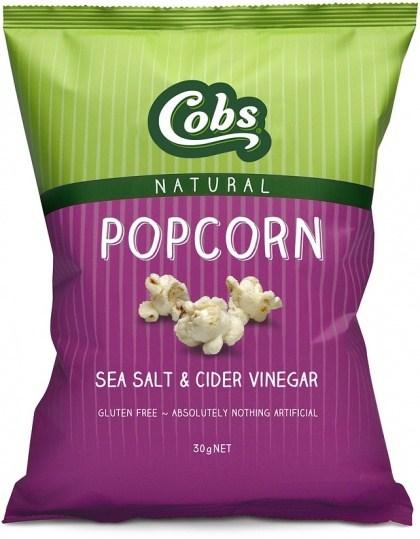 Cobs Natural Sea Salt & Cider Vinegar Popcorn  30x30g