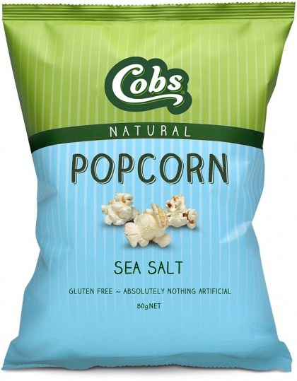 Cobs Natural Sea Salt Popcorn  12x80g