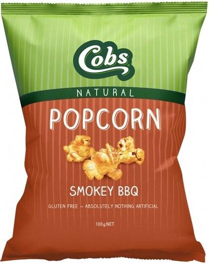 Cobs Natural Smokey BBQ Popcorn  12x100g