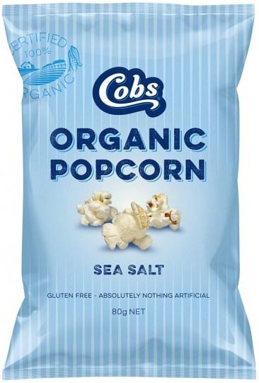 Cobs Organic Sea Salt Popcorn  12x80g