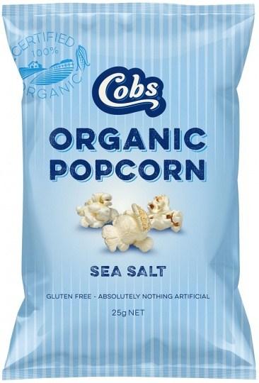 Cobs Organic Sea Salt Popcorn  24x25g