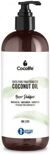 Cocolife Fractionated Liquid Coconut Oil (Topical Use Only) 1Ltr