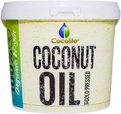 Cocolife Organic Virgin Coconut Oil Tub  3.8L
