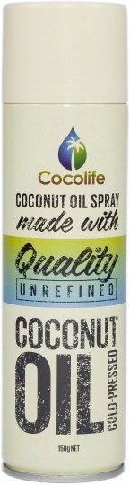 Cocolife Premium Organic Virgin Coconut Oil Spray  150g