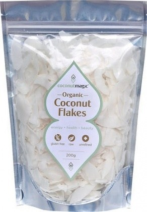 Coconut Magic Organic Coconut Flakes 200g bag