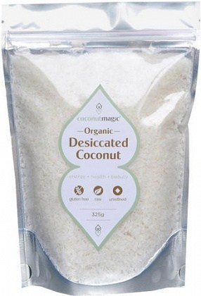 Coconut Magic Organic Fine Desiccated Coconut 325g bag