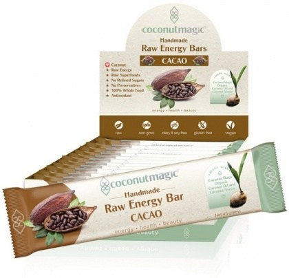 Coconut Magic Raw Energy Bars Cacao 12x45g