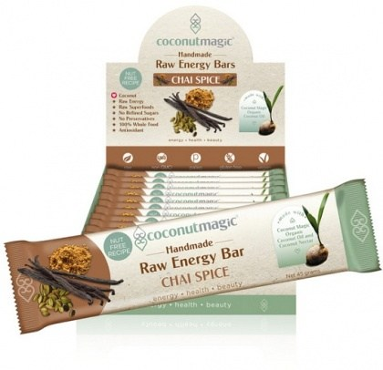 Coconut Magic Raw Energy Bars Chai Spice  12x45g