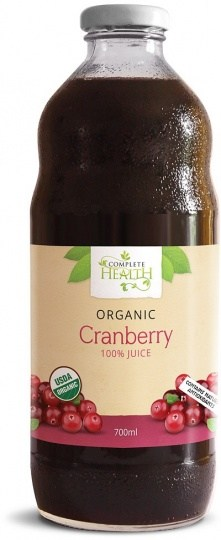 Complete Health Organic Cranberry 100% Juice 700ml REPLACE code 65407