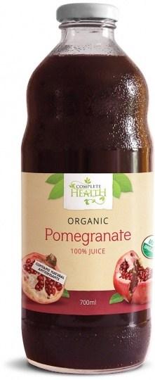 Complete Health Organic Pomegranate 100% Juice 700ml OCT17