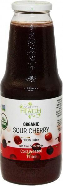 Complete Health Organic Sour Cherry 100% Juice 1L