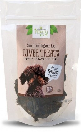 Complete Health Organic Sun Dried Roo Liver Treats 100g