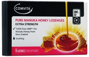 Comvita UMF 10+ Pure Manuka Honey Lozenges G/F 16s DEC20