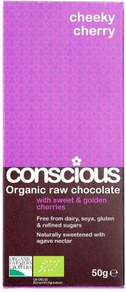 Conscious Organic Raw Chocolate Cheeky Cherry 50gm