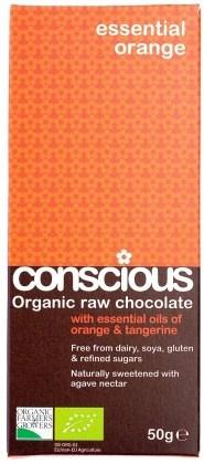 Conscious Organic Raw Chocolate Essential Orange 50gm