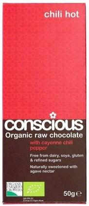 Conscious Organic Raw Chocolate Hot Chili 50gm