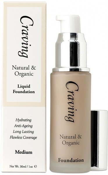Craving Natural & Organic Liquid Foundation - Medium 30ml
