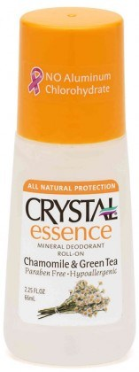 Crystal Essence Deodorant Chamomile & Green Tea Roll On 66ml
