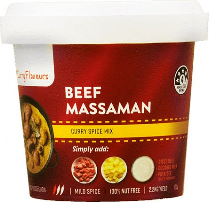 Curry Flavours Beef Massaman Curry Spice Mix Tub 100g