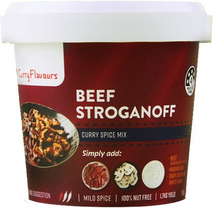 Curry Flavours Beef Stroganoff Curry Spice Mix Tub 100g
