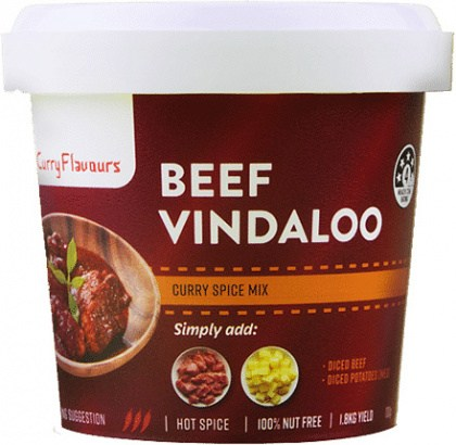 Curry Flavours Beef Vindaloo Curry Spice Mix Tub 100g