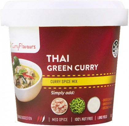 Curry Flavours Thai Green Curry Spice Mix Tub 100g