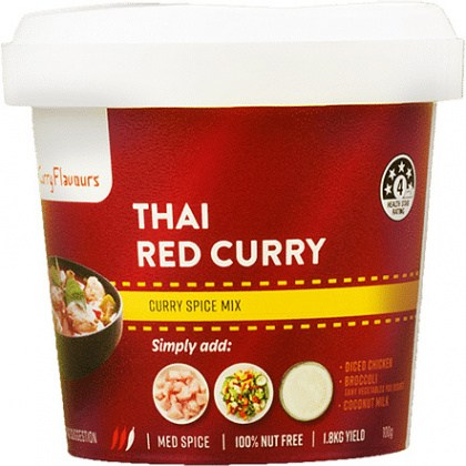 Curry Flavours Thai Red Curry Spice Mix Tub 100g