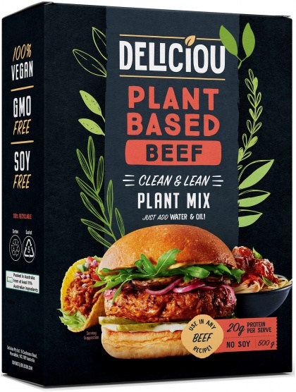 Deliciou Plant-Based Beef Plant Mix 140g