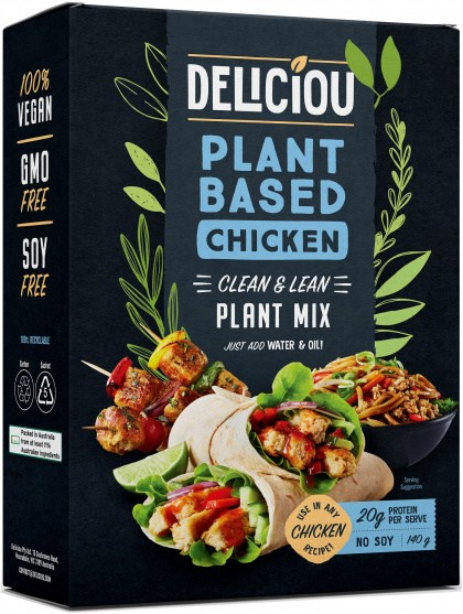 Deliciou Plant-Based Chicken Plant Mix 140g