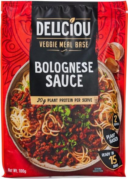 Deliciou Veggie Meal Base Spaghetti Bolognese 100g
