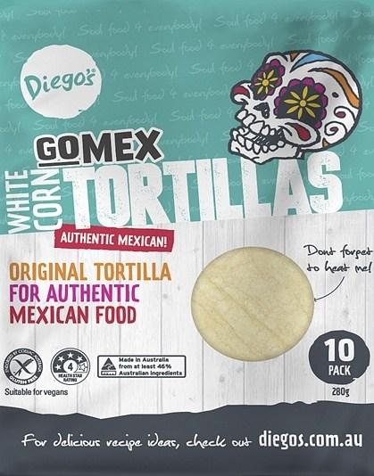 Diego's GoMex Corn Tortilla 10Pack (280g)
