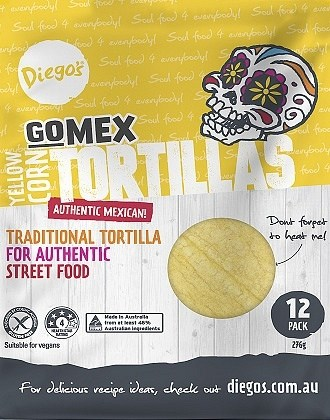 Diego's GoMex Yellow Corn Tortilla 12Pack  (276g)